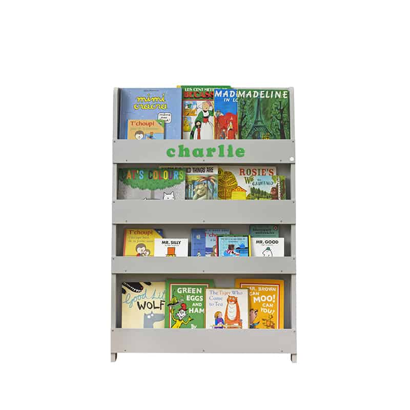 Children's bookcases, Tidy Books, Tidy Books Children Bookcases, kids bookcases, Personalised Children's Bookcase Dark Grey