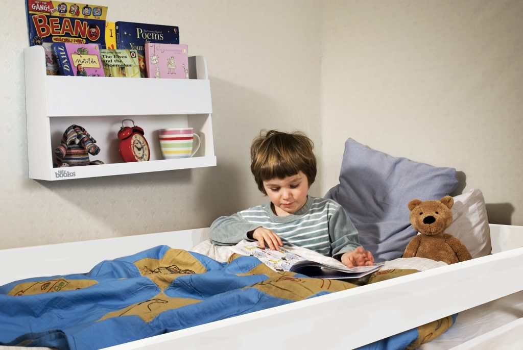 bunk bed shelves, tidy books, bunk bed buddy, bunk bed storage, bed time