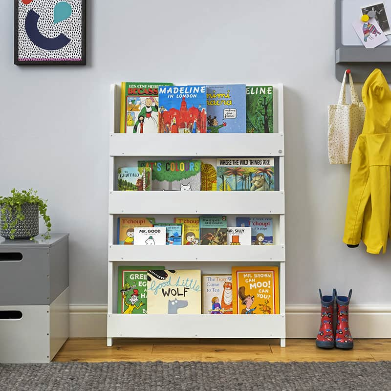Children's bookcases, Tidy Books, Tidy Books Children Bookcases, kids bookcases, The Tidy Books Kids Wall Bookshelf Pale Grey