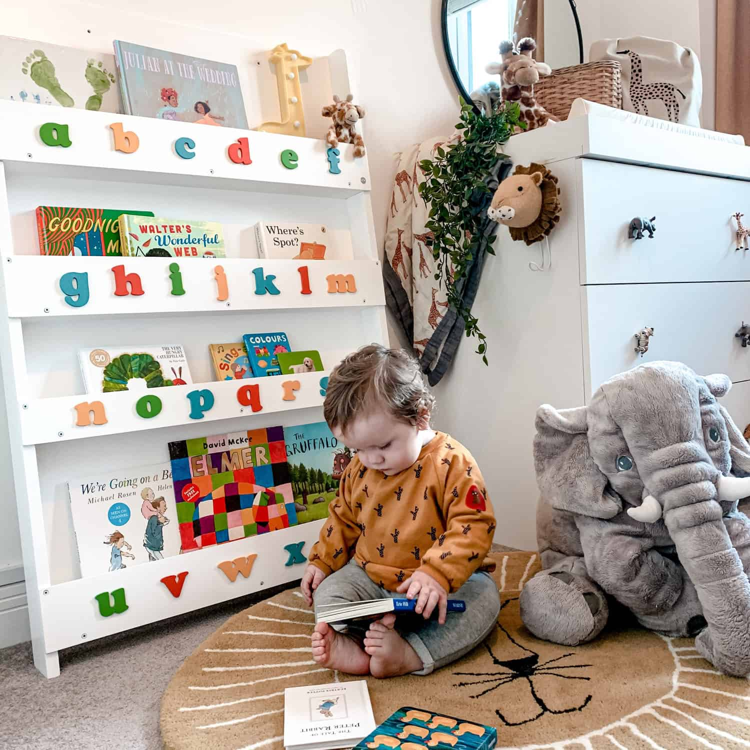 Babies love books sooner than you think. Give them baby books and a Tidy Books bookcase