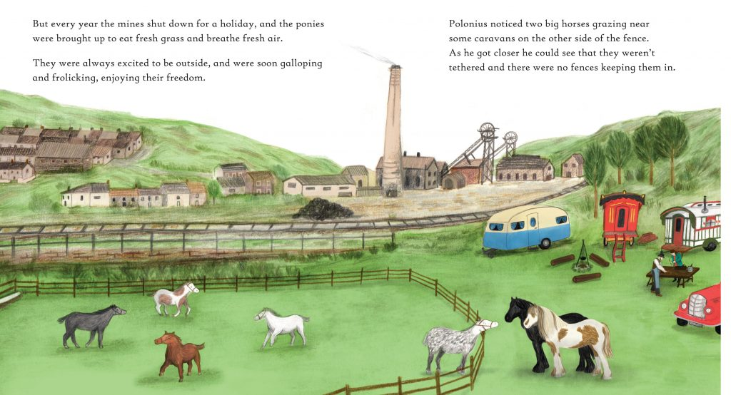 Polonius the Pit Pony Review, tidy books, kids books, kids book review parent panel, polonius the pit pony, childs play books