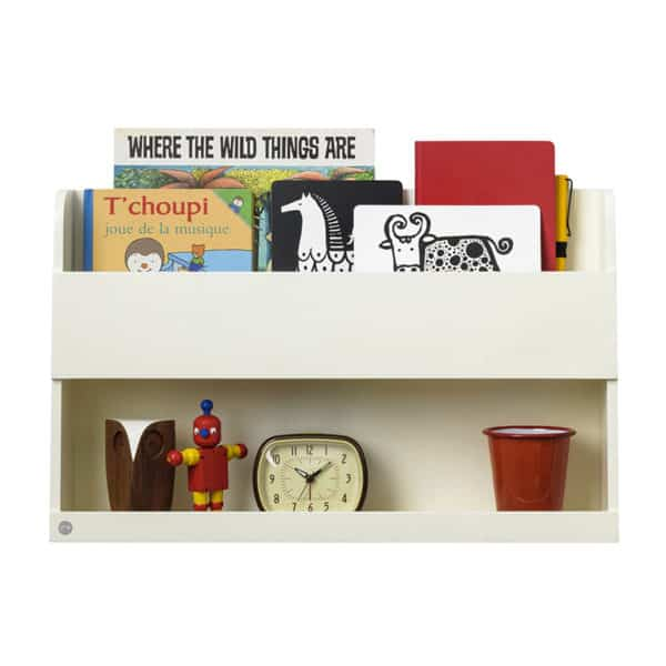Tidy Books Bunk Bed Buddy, The Tidy Books Bunk Bed Buddy Wall Shelf, Bunk Bed Buddy, Floating Shelves for Bunk Beds, Tidy Books Bunk Bed Buddy Ivory