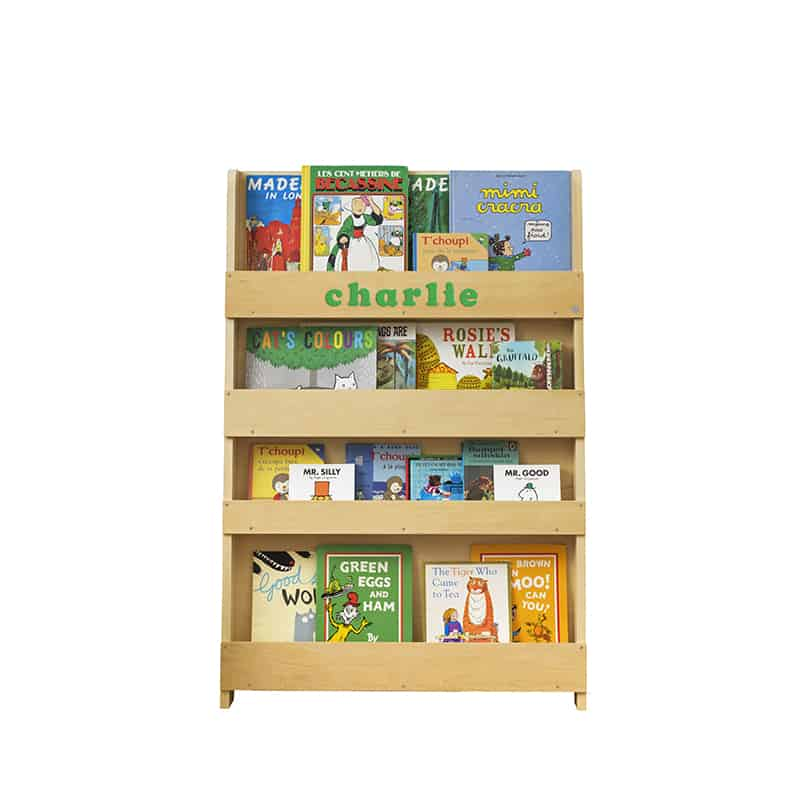 Personalised Children's Bookcase Natural