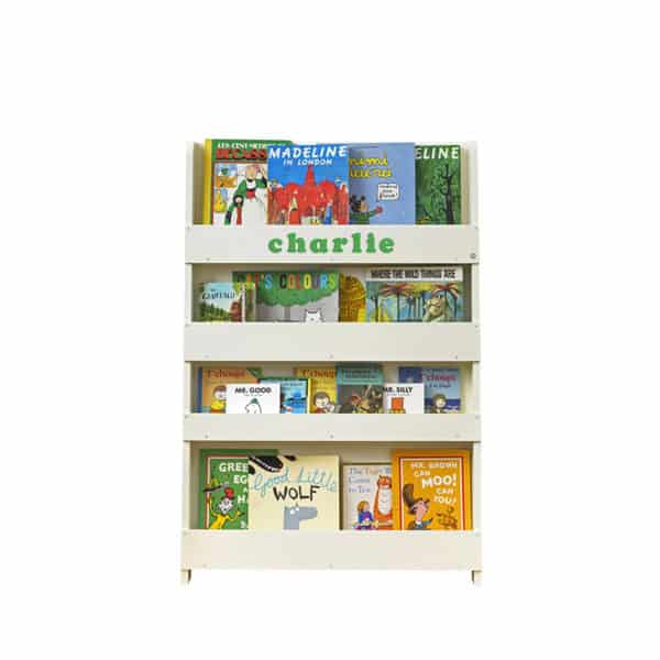 Personalised Children's Bookcase Ivory