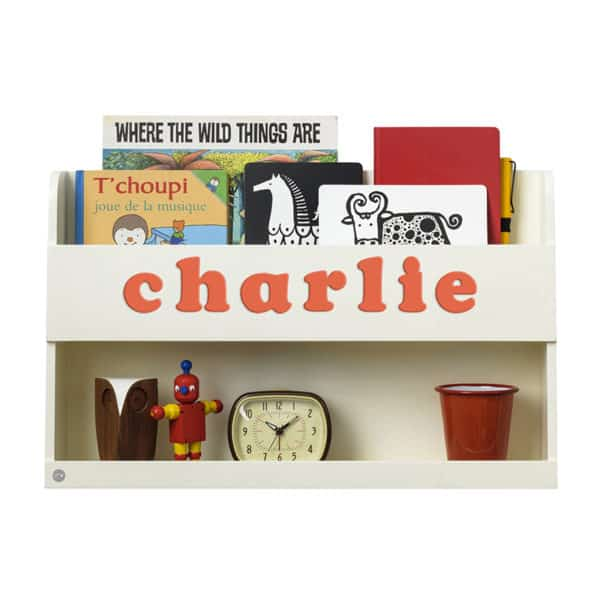 Tidy Books Bunk Bed Buddy, The Tidy Books Bunk Bed Buddy Wall Shelf, Bunk Bed Buddy, Floating Shelves for Bunk Beds, Tidy Books Personalised Bookshelf Ivory